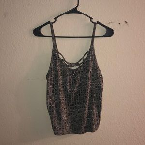 American Eagle knit lace up tank top